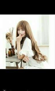Wig rambut wavy style 65 cm