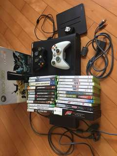 Xbox 360 主機 兩手掣 連一堆game 120G