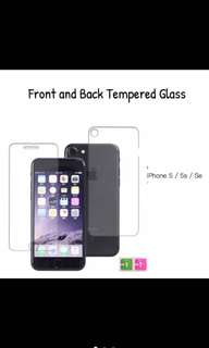 ON-HAND! FRONT AND BACK TEMPERED GLASS FOR IPHONE 5s/se/c