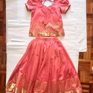Customed party dress / saree/ Punjab ( 1 set)