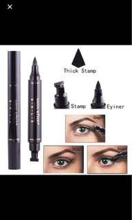 🚚 A Miss Rose Waterproof Magic Eyeliner & Seal Winged Duo Eyeliner Stencil Stamp 2 in 1