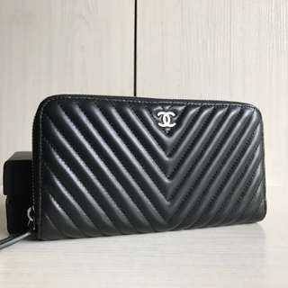 "Chanel ""V"" Zipped Wallet"