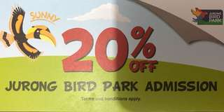 Jurong Bird Park admission tickets discount