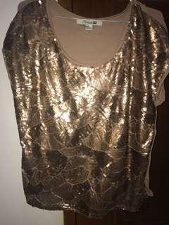 Forever 21 sequins top bling bling