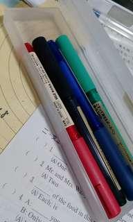 🚚 無印良品鉛筆盒附四支筆(可議價)