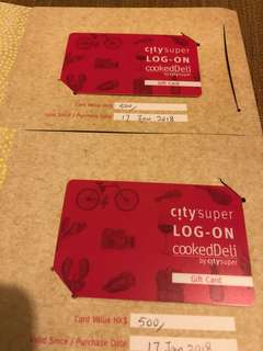CitySuper gift card