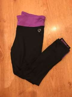 Live.Love.Dream By Aeropostale cropped workout leggings