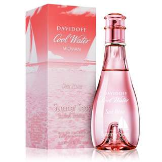 DAVIDOFF COOL WATER SEA ROSE SUMMER SEAS LIMITED EDITION EDT FOR WOMEN 100ML