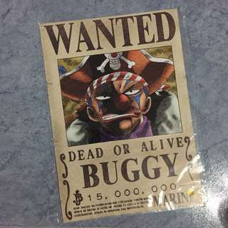 One Piece Buggy WANTED Poster