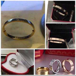 FASHION BRAND BRACELET AND RINGS