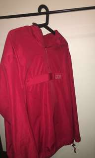Red Nike windbreaker men's size L