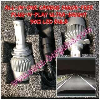 All-in-One 9012 Ultra Bright Day Light Error-free 6500K White LED Waterproof Light Bulbs for Headlight Lamp Toyota C-HR