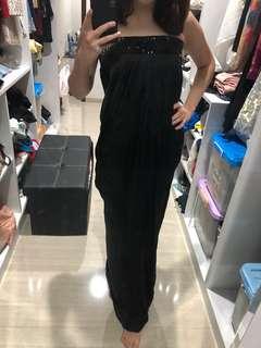 BEBE Authentic black tube long party dress