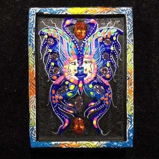 Kruba Krissana Butterfly with Jade Amulet