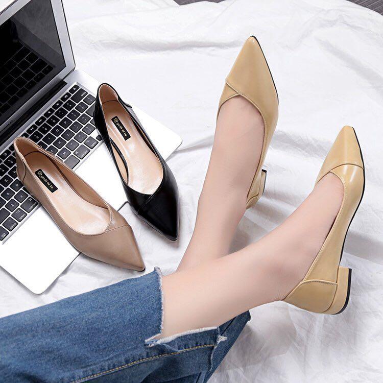 retro Korean shoes pointed flat