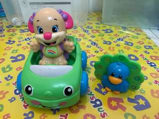 Fisher Price Puppy Sis and Peacock Set