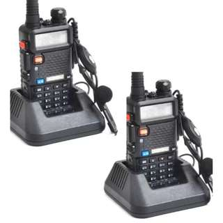 1% OFF Baofeng UV-5R Walkie Talkie Dual Band Radio set of 2