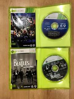 Xbox 360 Games 2X (RockBand3 & The Beatles RockBand) 2X for $50