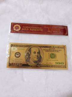 Gold banknote - 24k gold