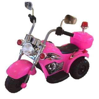 Pink Harley Davidson Rechargeable Ride On Motorcycle Big Bike
