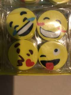 Emoji Smiley erasers for Children's Party Gift Pre-Order (30 packs x 4 pcs)