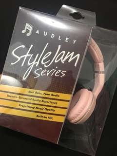 Audley Headphones Pink
