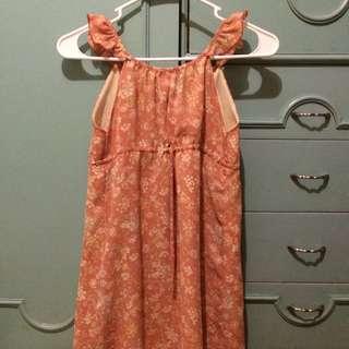 CUTE ORANGE DRESS