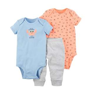 BN 9m/12m/18m Carters 3pcs Bodysuits and pant set CRAB