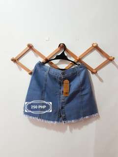 Weison Denim Blue Skirt