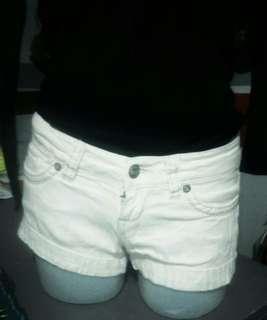 Levi's off-white denim shorts