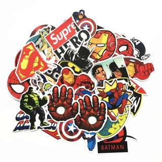 Superheroes Stickers (50 in a Pack)