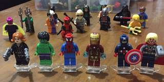 Minifigures (superheroes & starwars)