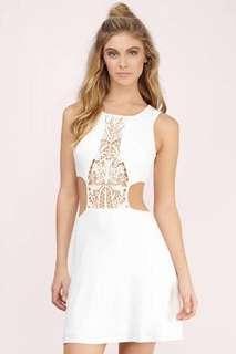 Tobi white cutout dress