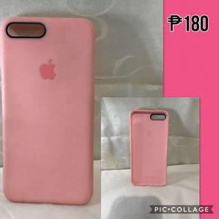 Pink Silicone Case w/ Apple Logo