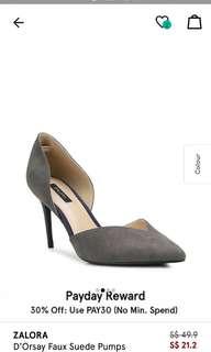 Zalora Grey Heels