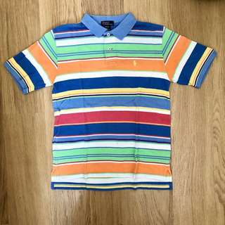 Polo by Ralph Lauren 彩色橫間 Polo Tee Boy Size M 12/14