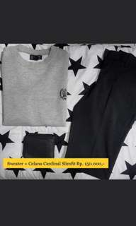 #mausupreme Celana Cardinal Slimfit + Sweater