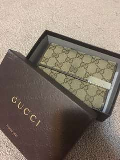 AUTHENTIC Gucci 3-fold Wallet