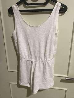 White jumpsuit forever21