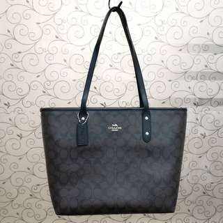 Coach Authentic City Zip Tote Signature Readystock