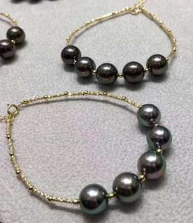 Tahitian South Sea pearls & 18K Gold braclet