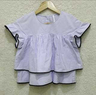ZARA BABY DOLL TOP W/ UNNOTICEABLE FLAW (S: SMALL)