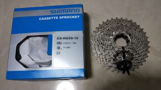 Shimano Cassette Sprocket 10S, 11-36T, CS-HG50-10