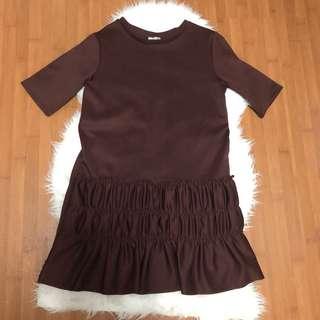 Zara Dress Deep Brown-Maroon