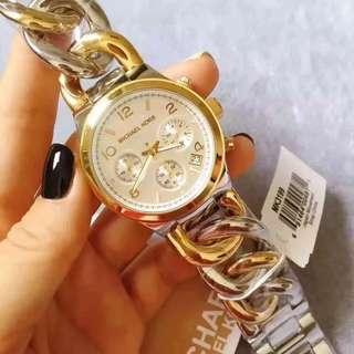 5⃣️色齊🇺🇸全球第一時尚品牌Michael Kors邁克。科爾斯♨新款🔥🔥🔥MK3131/ 3149/3242/4222 // 4269玫瑰金色三眼計時石英女表。直徑38毫米