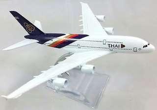 Thai Airways Airbus A380 diecast 16cm