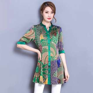Ladies Blouse/Cooling Soft Material/Size: 4XL/For 70-80Kg
