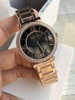 官網新款👑👑MICHAELKORS經典帶鑽滿天星手錶MK8580玫瑰金.MK8515銀色.MK8494金色🔺3⃣️色齊 尺寸:錶盤直徑45MM。厚10米