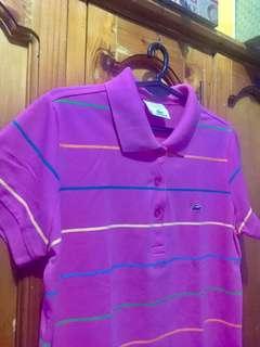 Lacoste Stripes Polo shirt (M to L)
