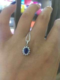 蓝宝石钻石吊墜